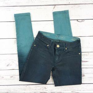 DL1961 emma skinny jeans ombré blue size 25